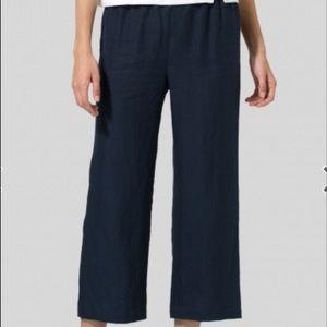 VIvid Linen Cropped Pants